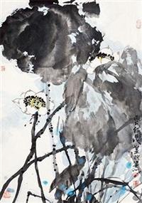 荷花图 by liu shaokun