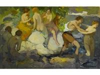 bathers by franz arthur bischoff