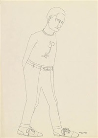 untitled (man walking) by benny andrews
