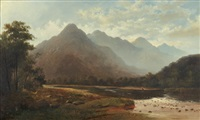 the shag river, otago by thomas reginald attwood
