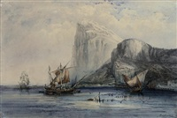 coastal craft off gibraltar by lady sophia dunbar