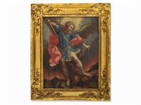 archangel michael defeats satan by guido reni