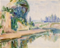 river scene - loire valley by john peter russell