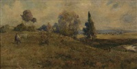 baling hay, summer afternoon by w. lister