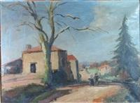 chemin de village en hiver by josué gaboriaud
