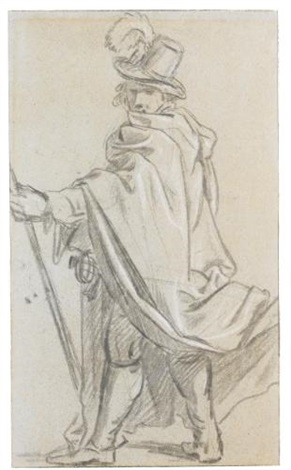a standing gentleman in a hat by sir peter lely