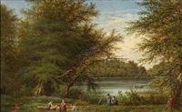 udsigt mod valsølille-sø ved skjoldnæsholm by peter (johann p.) raadsig