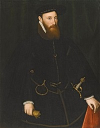 portrait of john lumley, 1st baron lumley (c. 1543-1609) by steven van der meulen