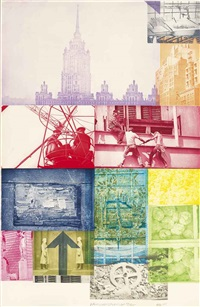 soviet/american array vii by robert rauschenberg
