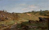 paysage de campagne animé by léon-auguste mellé