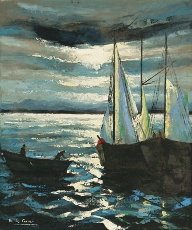 vitorlások sailing boats by marguerite de corini