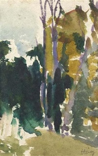 woodland abstract by earl haig