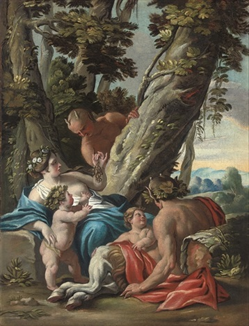 bacchus and ariadne by jacques blanchard