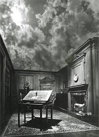 untitled philosophers study by jerry uelsmann