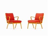 pair of armchairs by selman selmanagic