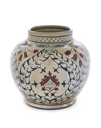 a lustre vase by william mycock