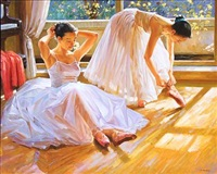two ballet girls by alexander akopov