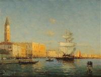 canal devant le palais des doges by noel georges bouvard