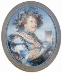 portrait of john palmer, esq. dressed as comus by john russell