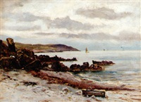 view from a cove by alexander wellwood rattray