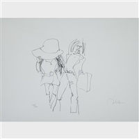 honeymoon in paris (plate 14 from bag one) by john lennon