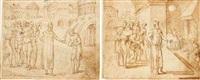 joseph retaining simeon as a hostage by bernard (le petit bernard) salomon