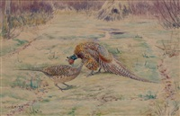 etude de chevreuils (study) by edouard paul merite