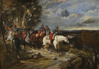 l'attaque de la cavalerie by james alexander walker