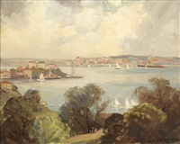 the harbour from neutral bay, sydney by james ranalph jackson