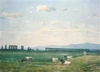 ruines d'aqueducs dans la campagne romaine by paul frédéric léo coulon