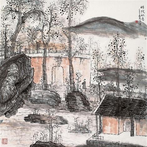 禅院秋意 by lin haizhong