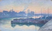 scène de port by valéry müller