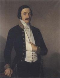 portrait de jean-louis anatole, baron lemercier by augusto roquemont