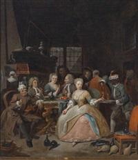 galante szene by jan baptist lambrechts