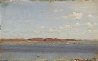view from limfjorden, denmark by hans ludvig smidth