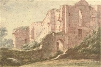 the ruins of the castle of brederode, near haarlem by vincent laurensz van der vinne the elder