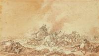 scène de bataille by jean-baptiste (louis) le paon