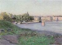 utsikt mot strandvägen, stockholm by herman lindqvist