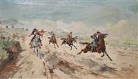 spanish horsemen by mariano obiols delgado
