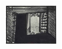 all alone in the museum of modern art, from: in the museum of modern art by howard hodgkin