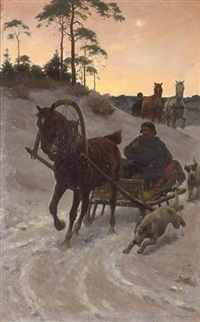 the sleigh ride by sigismund ajdukiewicz
