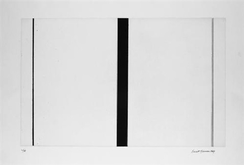 untitled etching no1 by barnett newman