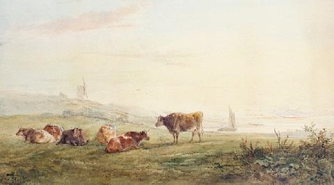 cattle resting by henry earp
