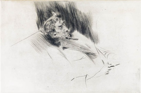 whistler asleep by giovanni boldini
