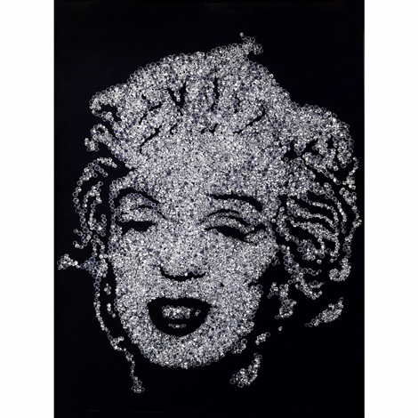 marilyn monroe by vik muniz