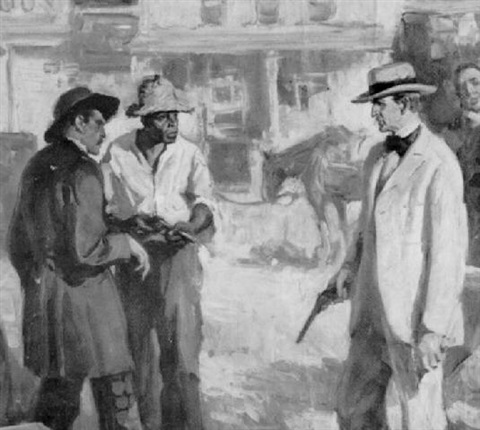 standing men in street with guns: bad men, worse manners by walter g. ratterman