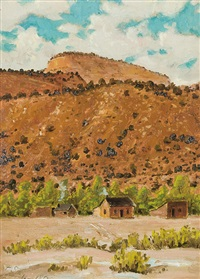 helper, utah; near toqueville, utah (2 works) by frederick samuel dellenbaugh