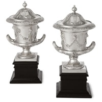 edwardian urns and cover (pair) by charles clement pilling