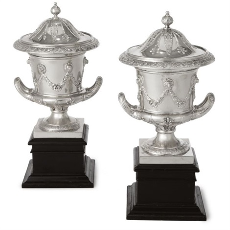 edwardian urns and cover pair by charles clement pilling