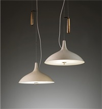 adjustable ceiling lights (pair) by paavo tynell